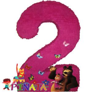 Піньята Цифра 2 маша і ведмідь