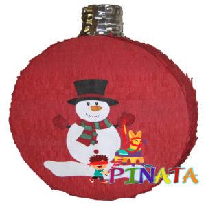 Піньята Новорічна кулька Сніговик